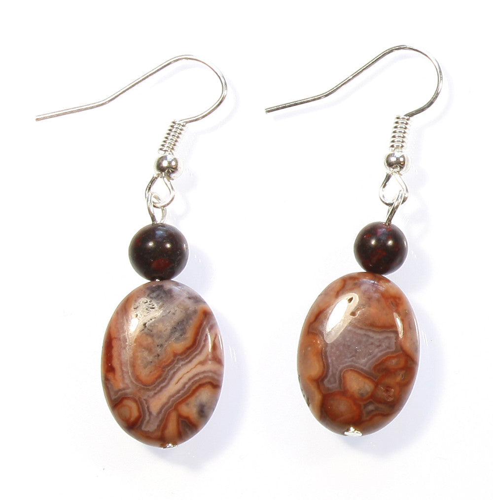 "Crazy Lace Agate Earrings ""Designs from the Earth"" Style-ARThouse"