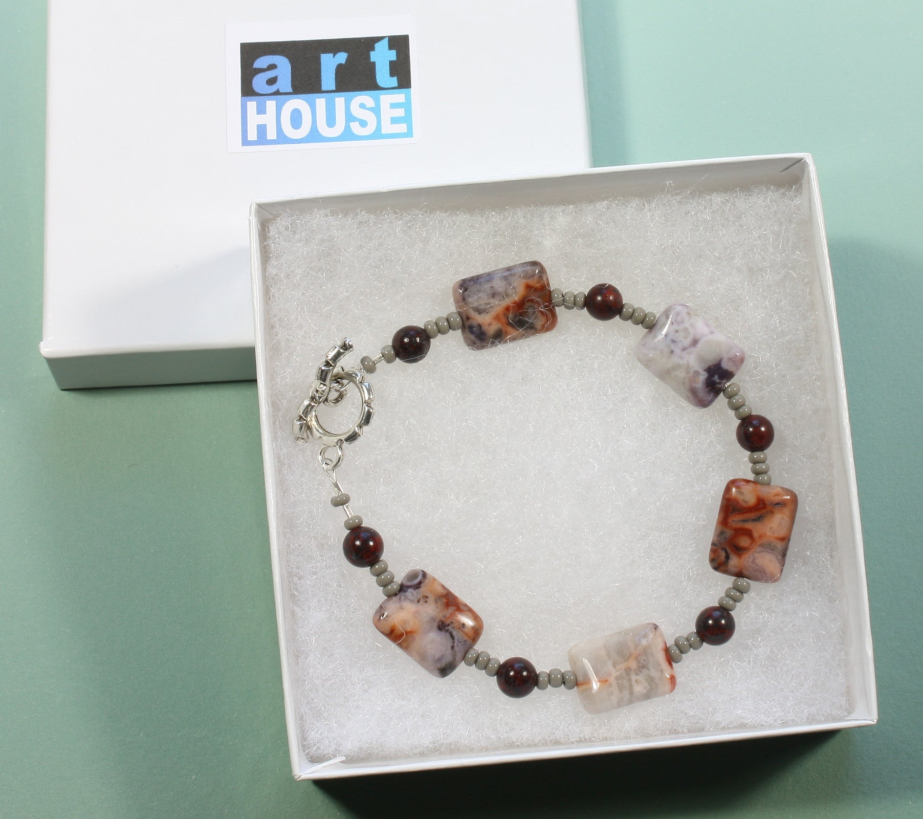 "Crazy Lace Agate Bracelet ""Designs from the Earth"" Style-ARThouse"