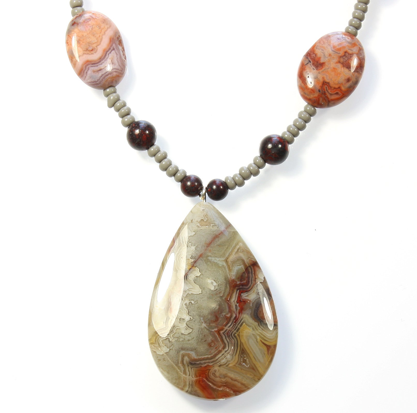 "Crazy Lace Agate Necklace ""Designs from the Earth"" Style-ARThouse"