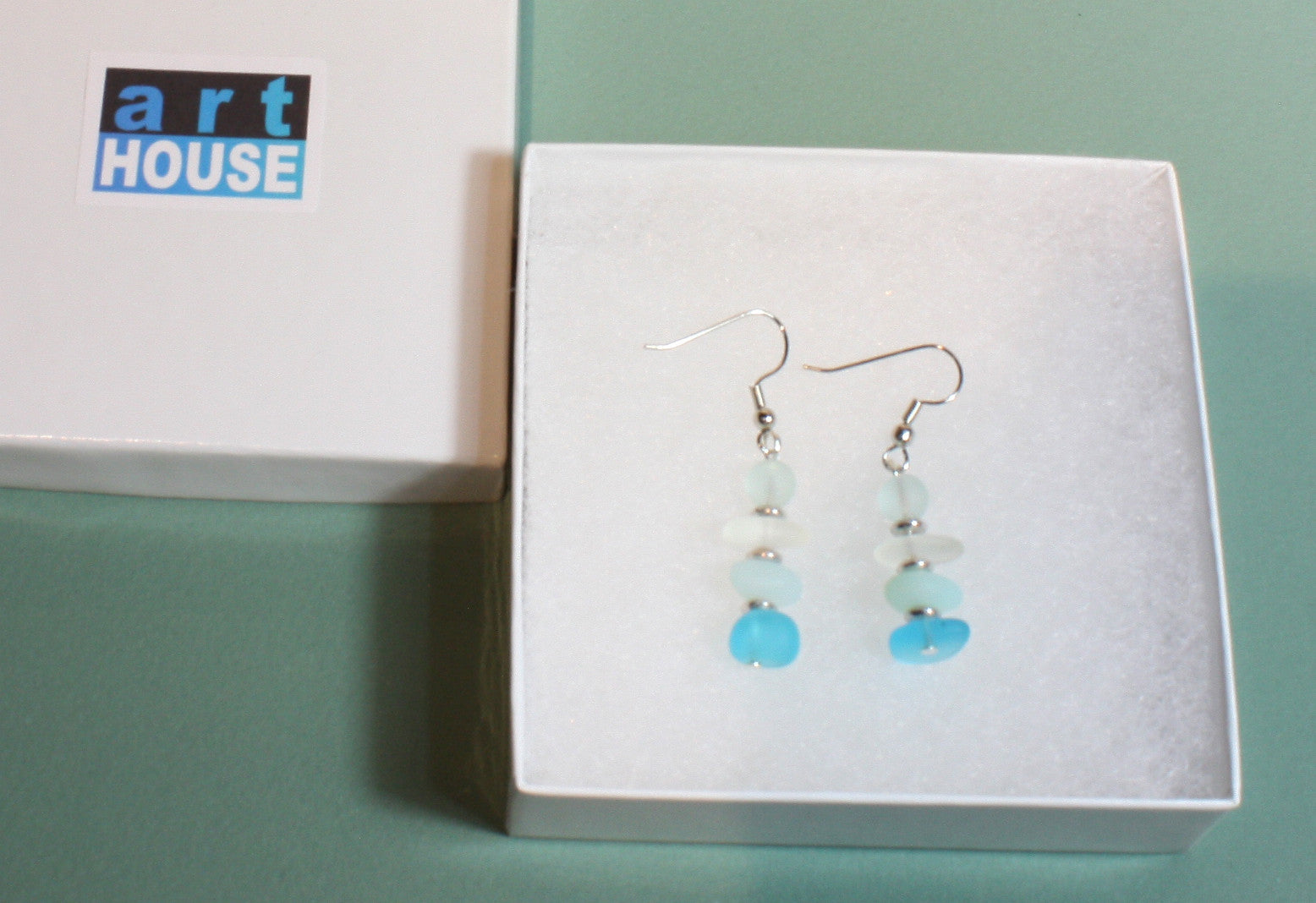 """Finders Keepers"" Faux Sea Glass Earrings; Dangle 2.0 Inches"