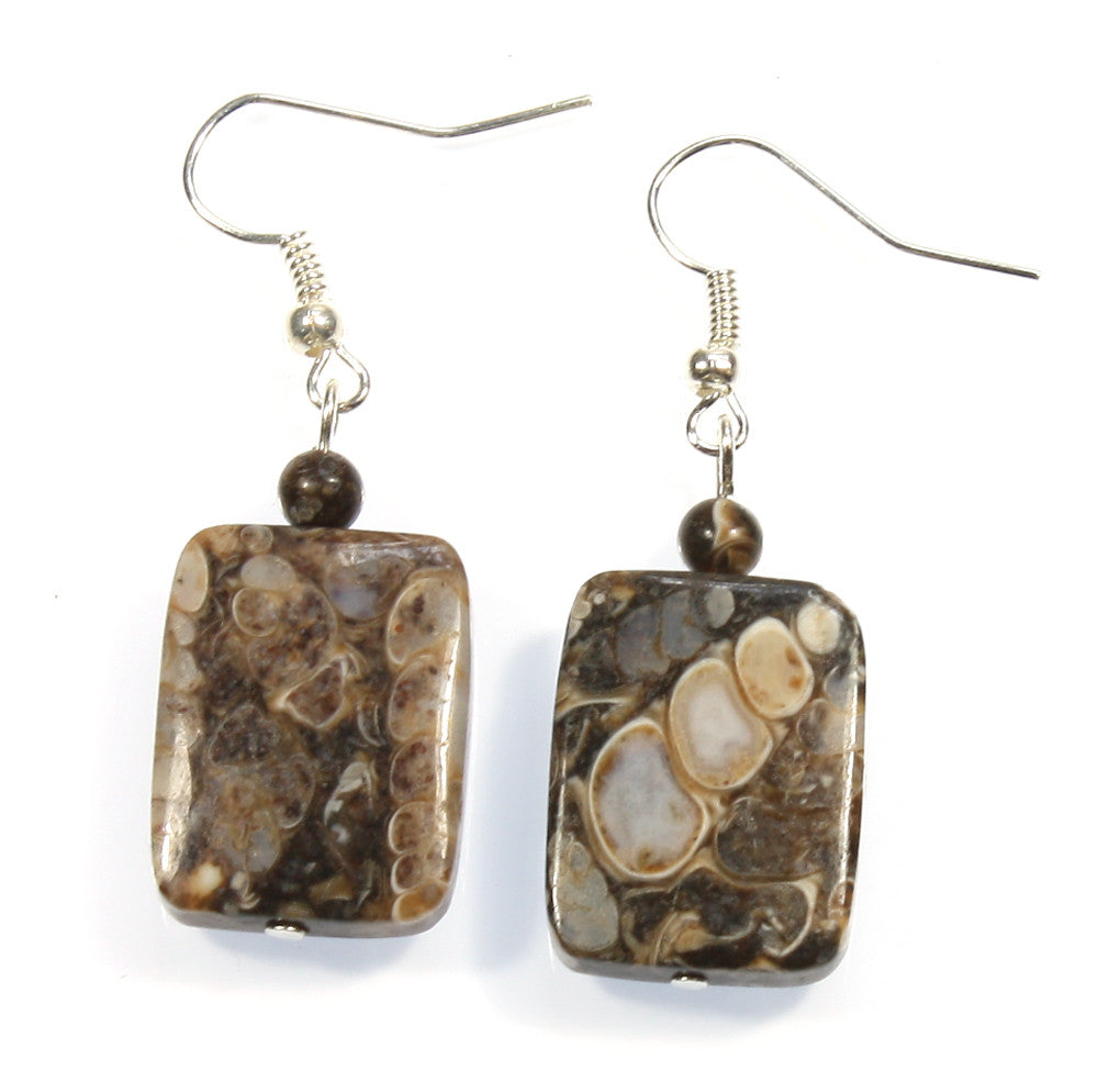 "Fossil Shell Earrings ""Fossil Hunter"" Style-ARThouse"