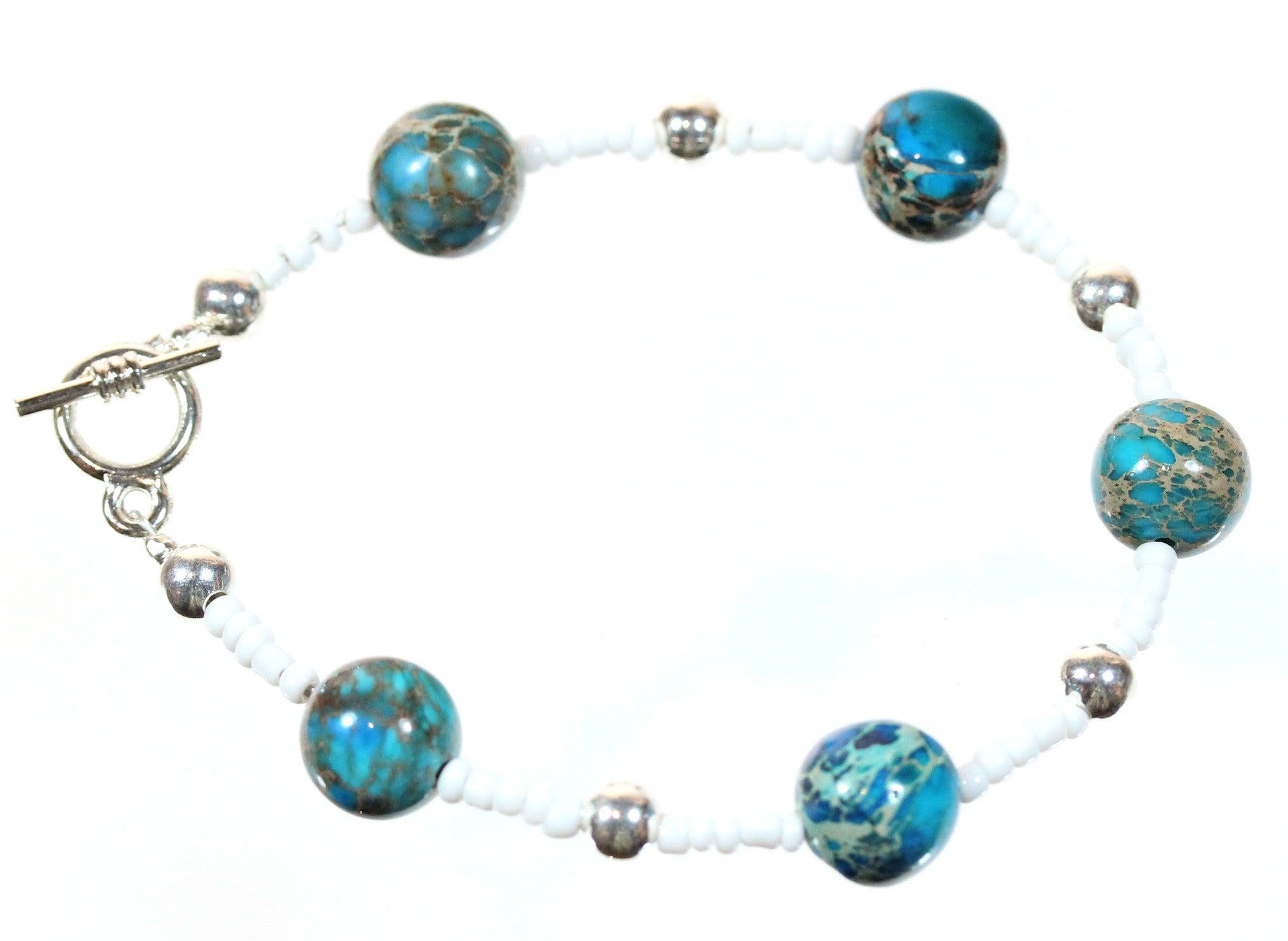 "Blue Jasper Bracelet ""Fragile Planet"" Style-ARThouse"