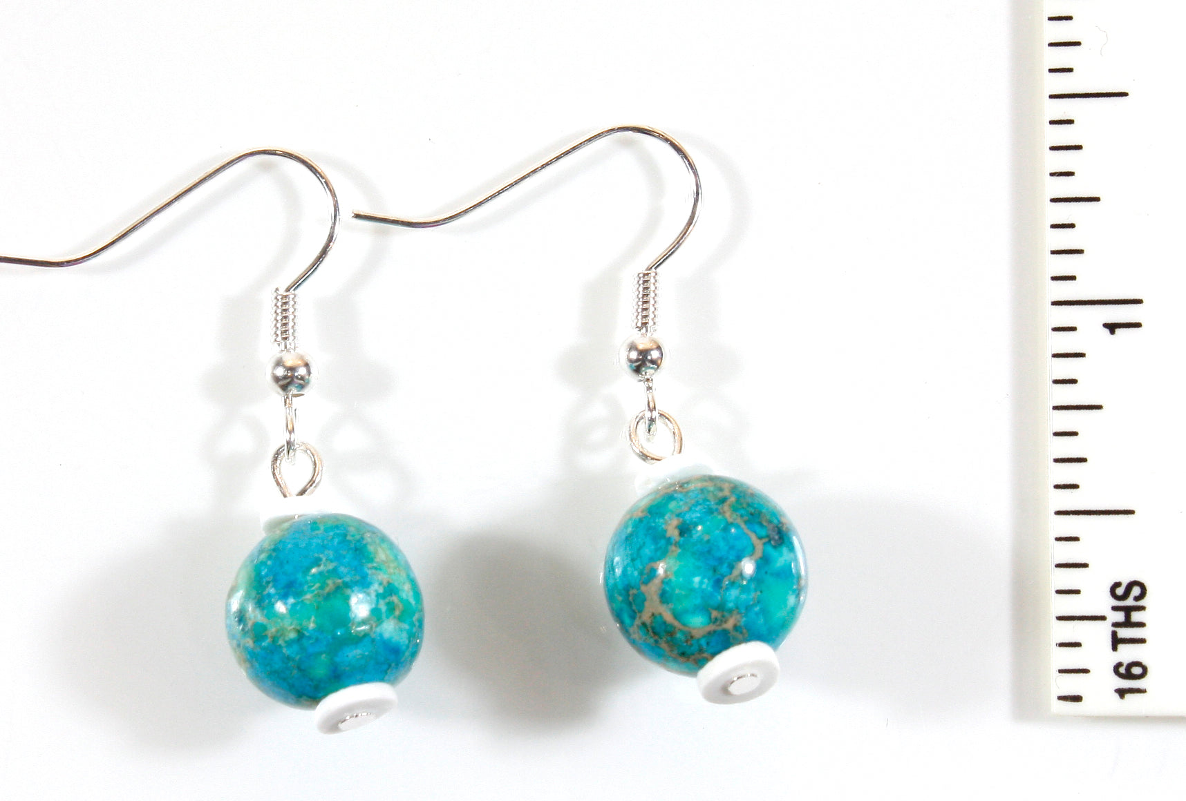Fragile Planet Earrings, Impression Jasper, 1.5 Inches