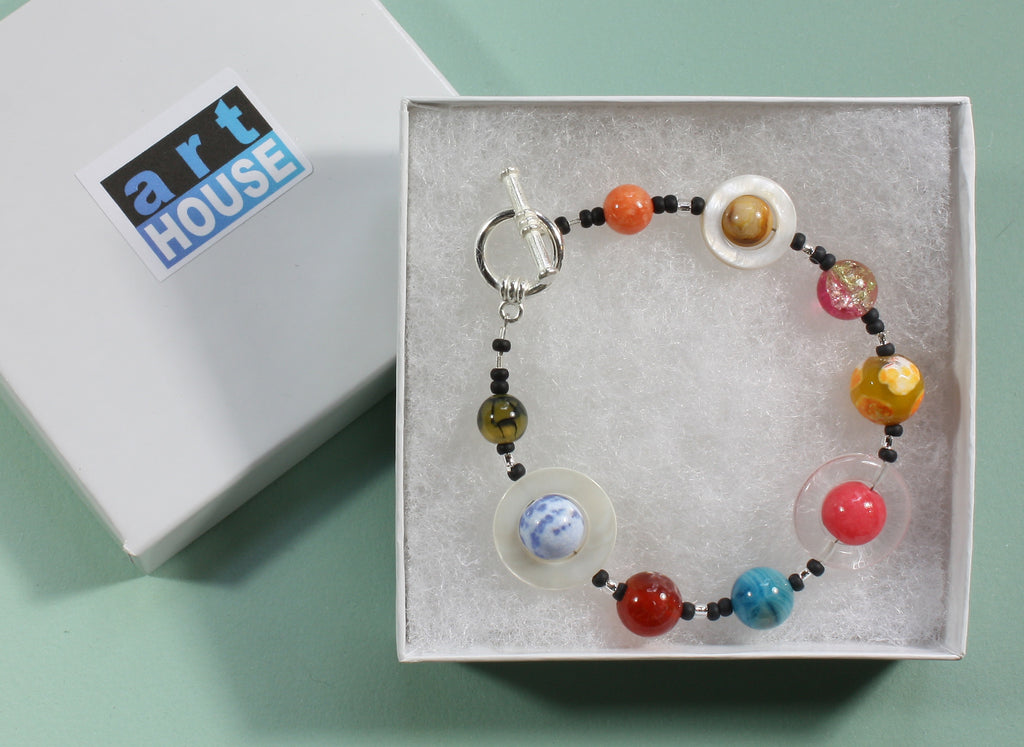"Exoplanet Natural Stone Bracelet ""Friendly Planets"" Style-ARThouse"