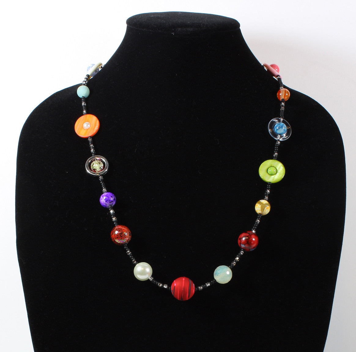 "Exoplanet Natural Stone Necklace ""Friendly Planets"" Style-ARThouse"