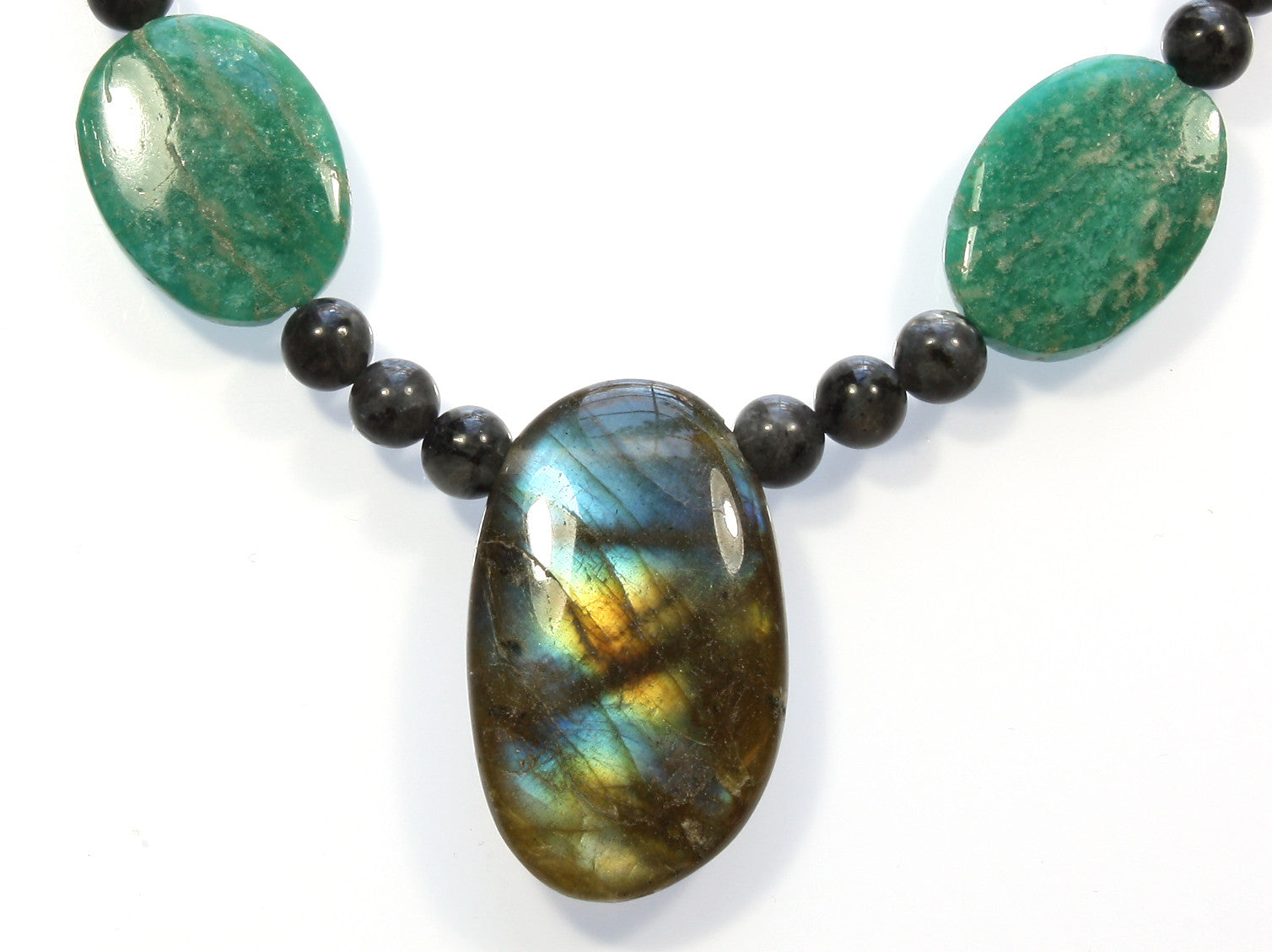"Labradorite Necklace ""From Labrador with Love"""