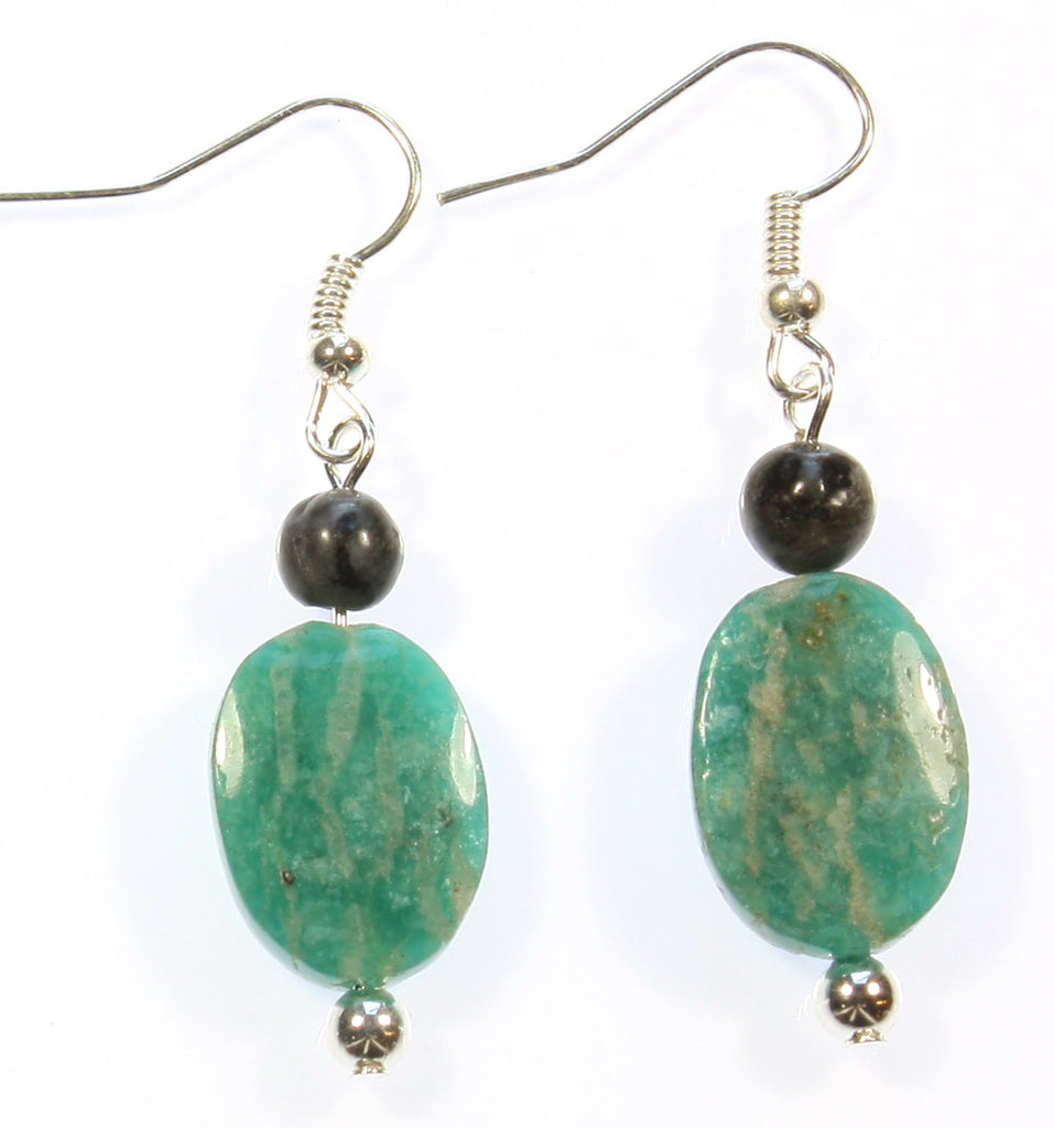 "Green Amazonite Earrings ""From Russia With Love"" Style-ARThouse"