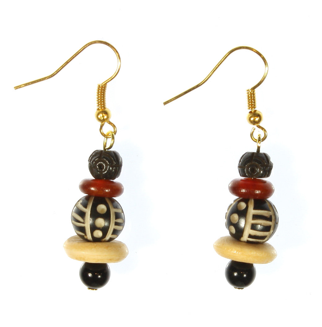 "African Tribal Earrings ""From the Heart of Africa"" Style-ARThouse"