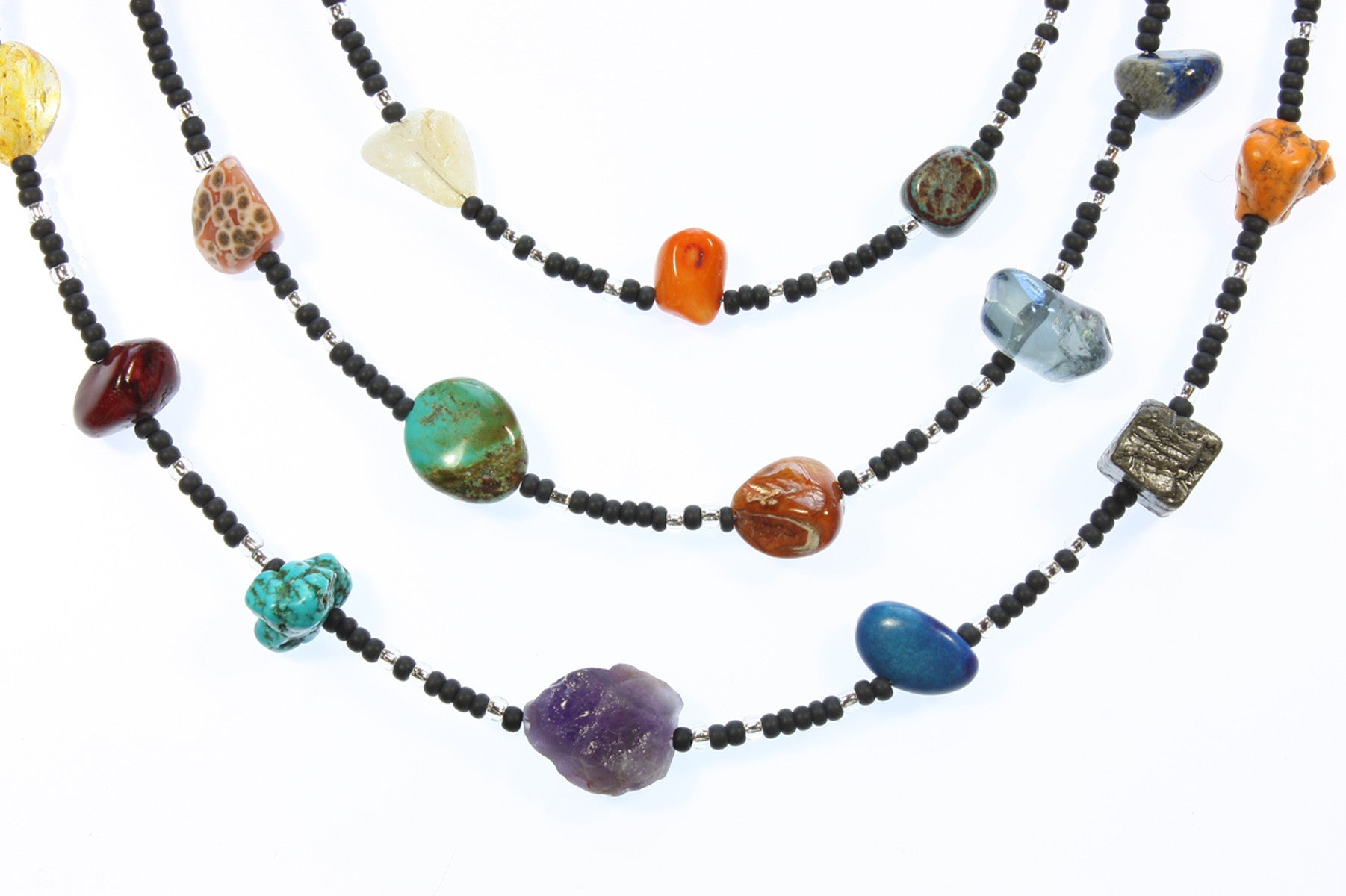 "Asteroid Belt Nugget Necklace ""Hurtling Through Space"" Style-ARThouse"