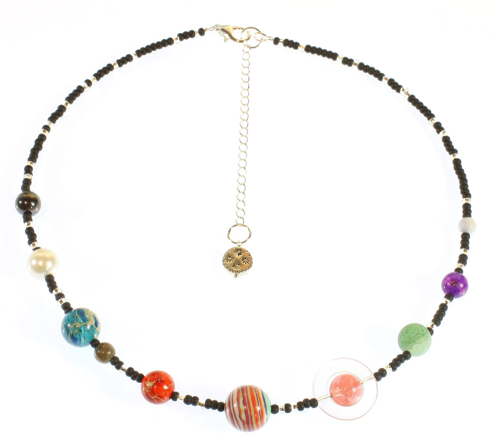 "Solar System Choker Necklace ""The Nine Planets Choker"" Style-ARThouse"