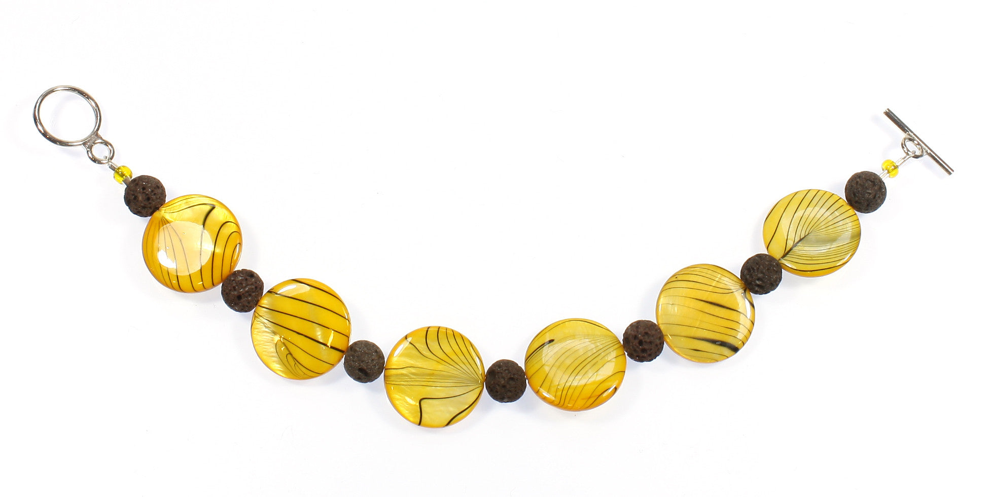 "Yellow Mother of Pearl Bracelet ""I Love Yellow!"" Style-ARThouse"