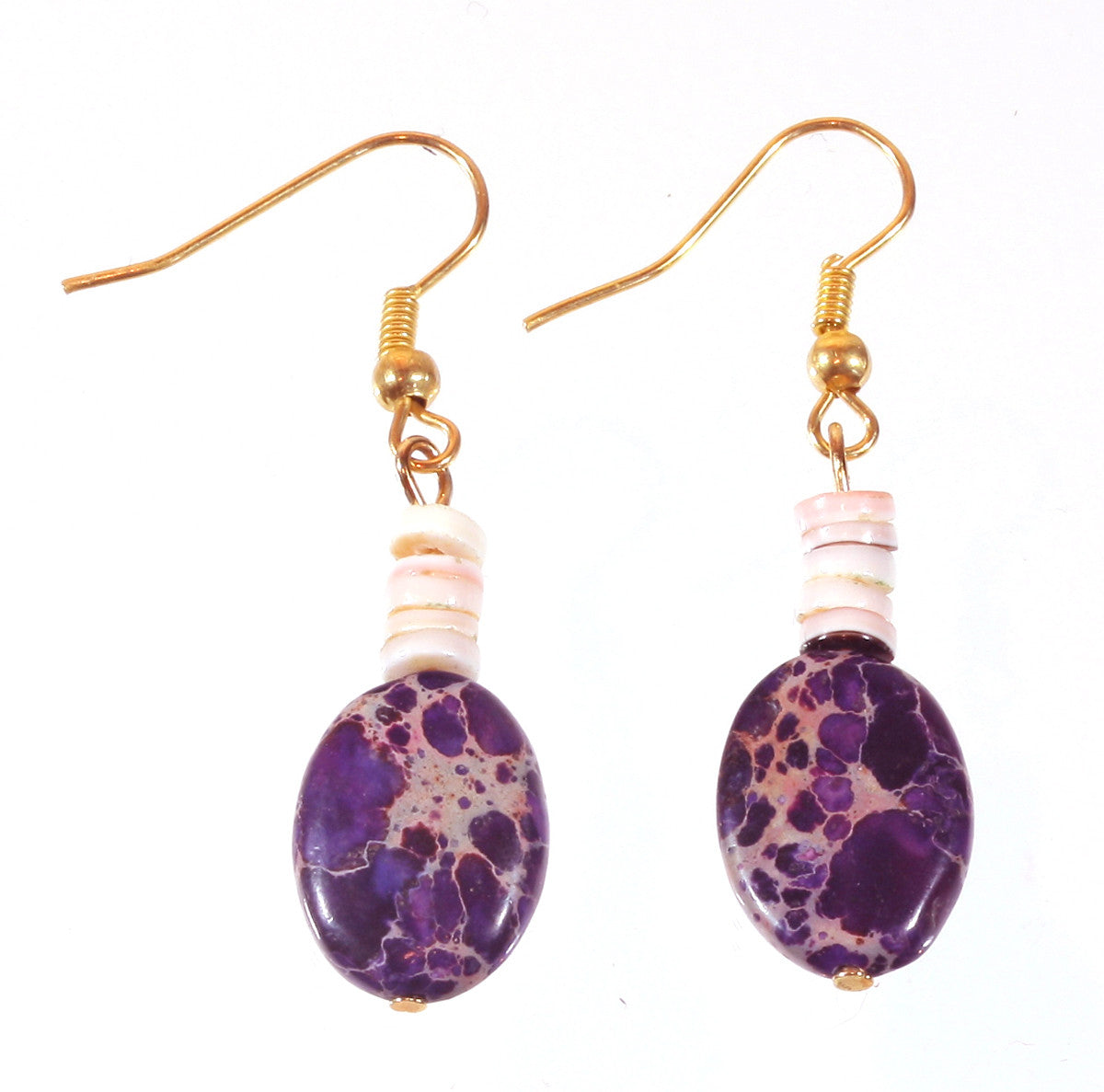 "Purple Jasper Earrings ""Irresistable"" Style-ARThouse"