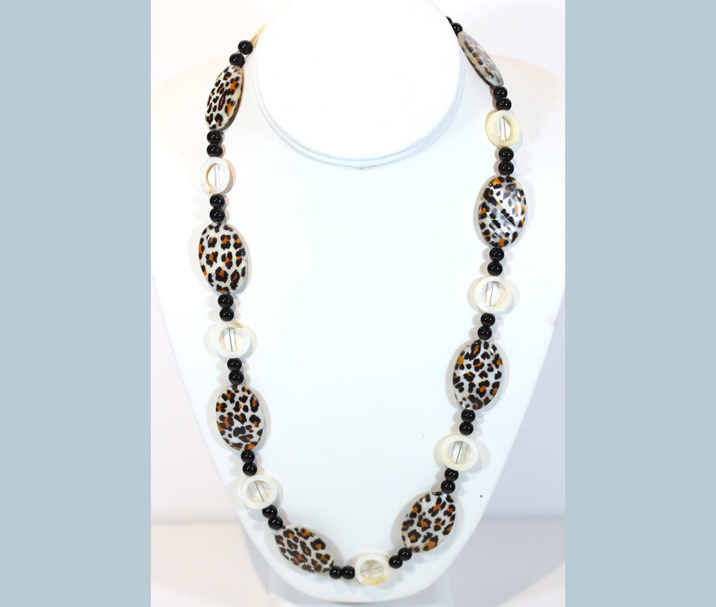 "Animal Print Necklace ""Leopard Babe"" Style-ARThouse"