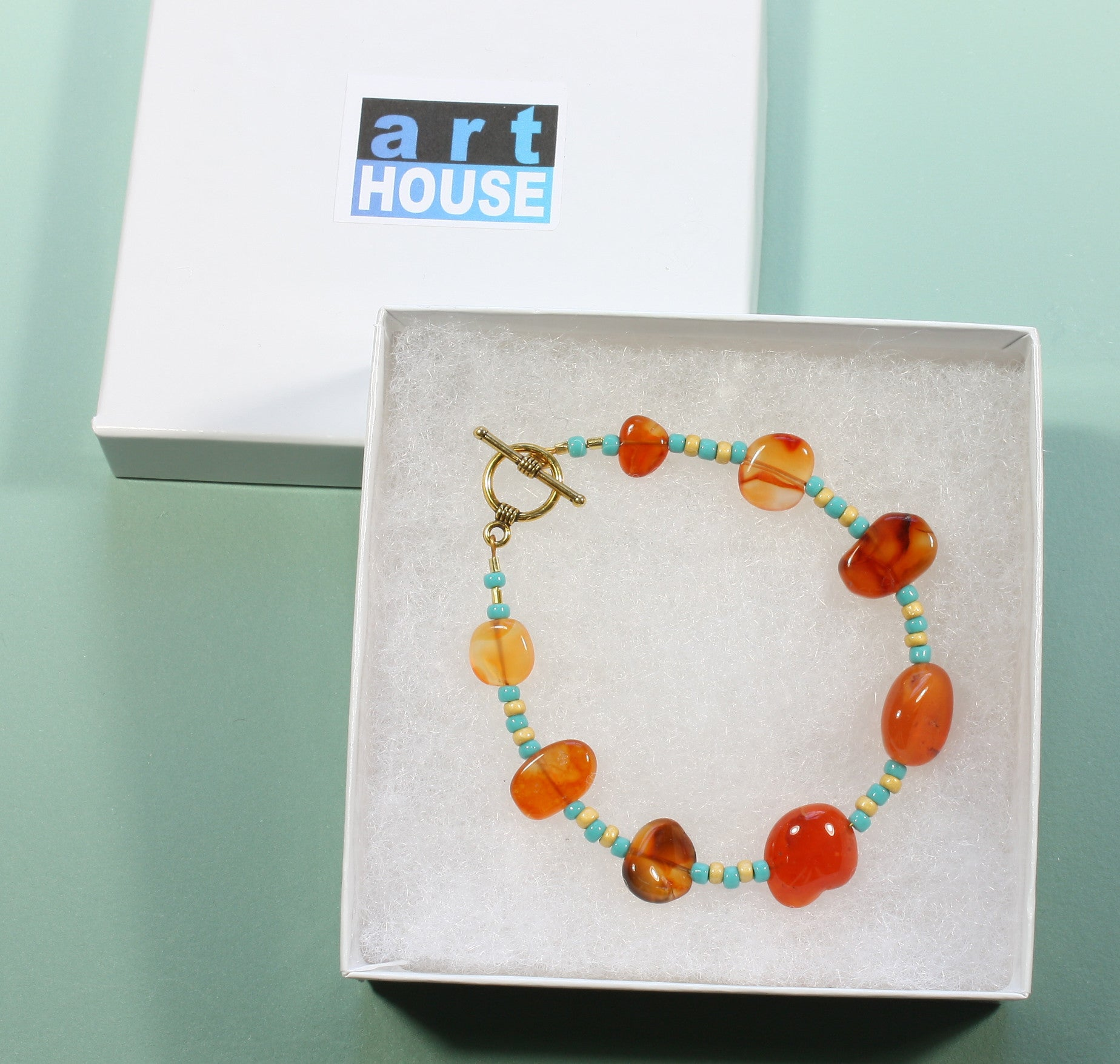 "Carnelian Bracelet ""Looks Like Amber"" Style-ARThouse"