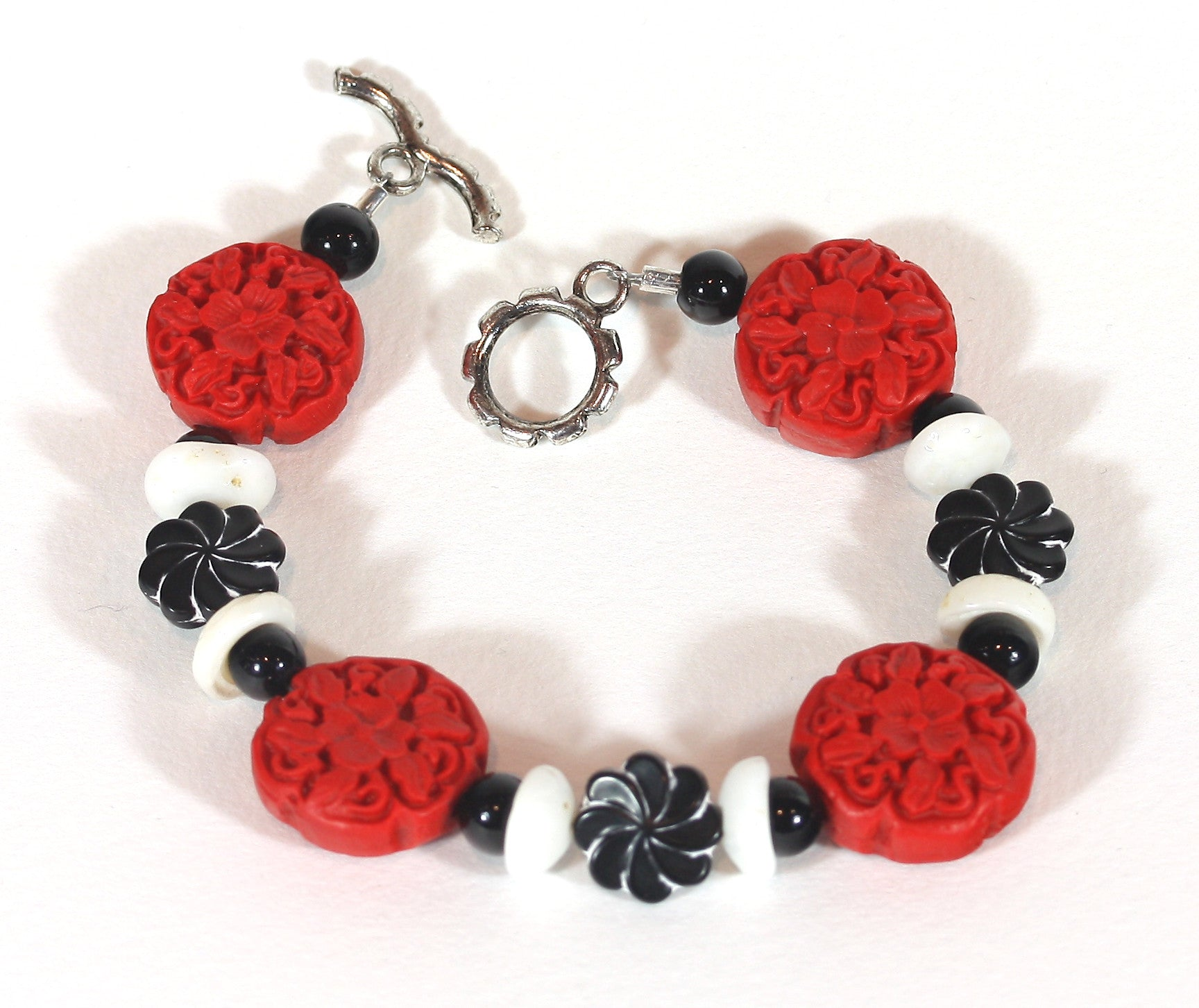 "Red Cinnibar Bracelet ""Lucky in Life"" Style-ARThouse"