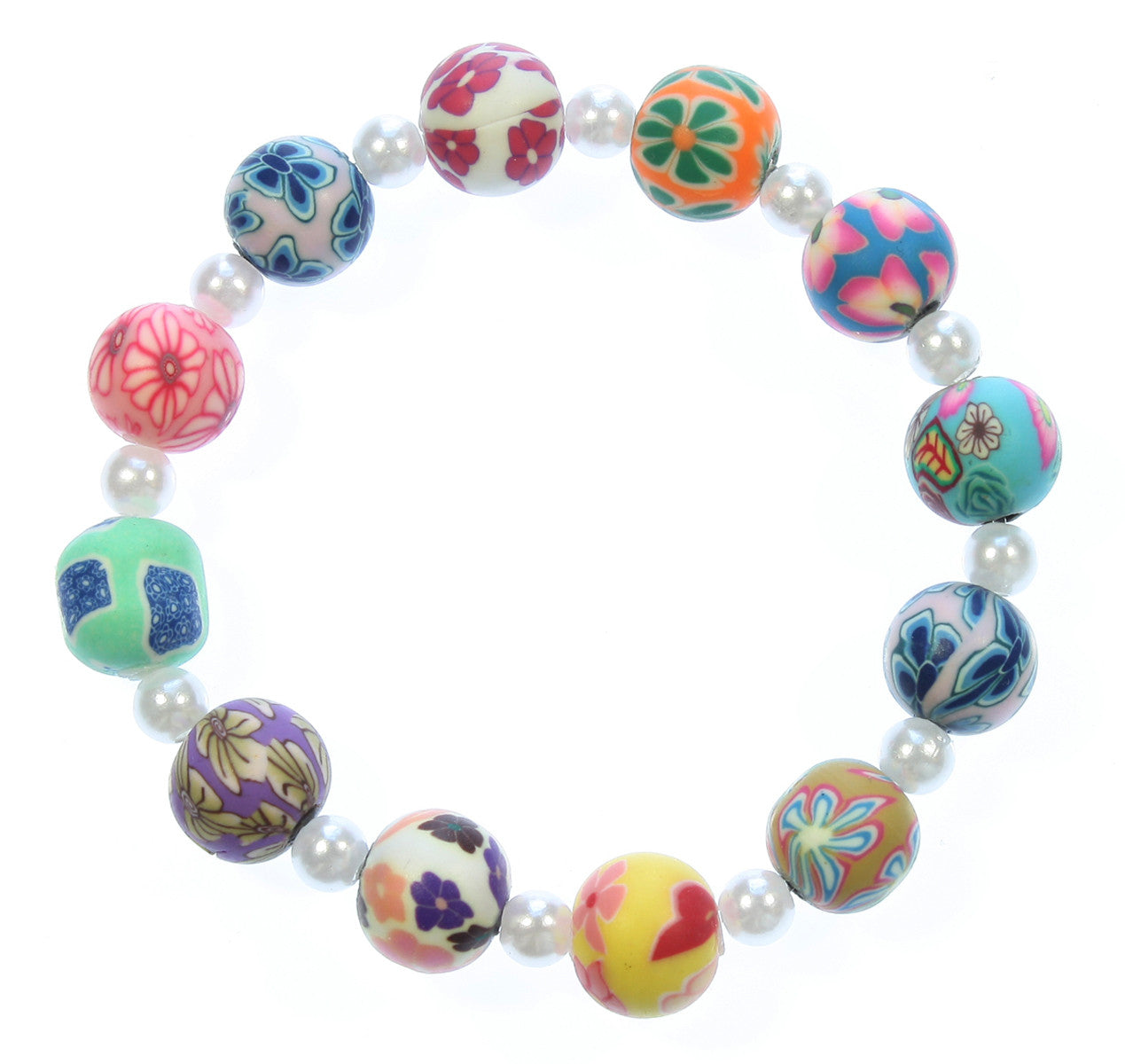 "Flower Stretch Bracelet ""Pretty in Summer"" Style-ARThouse"