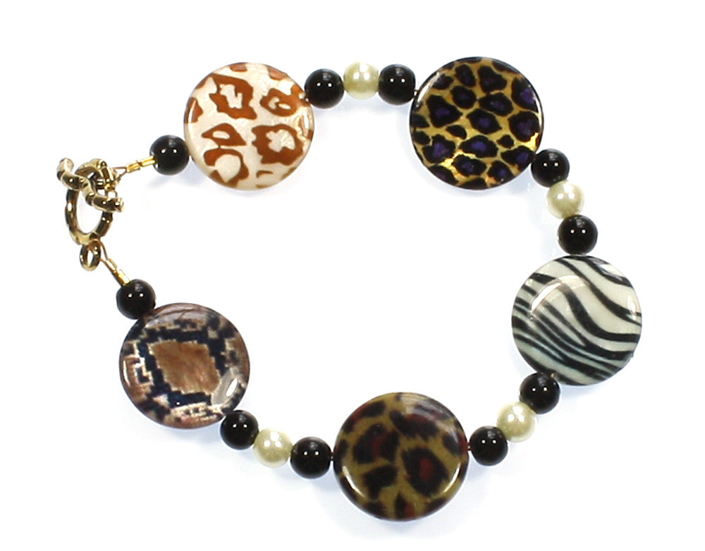"Animal Print Bracelet ""Take Me on a Safari"" Style-ARThouse"