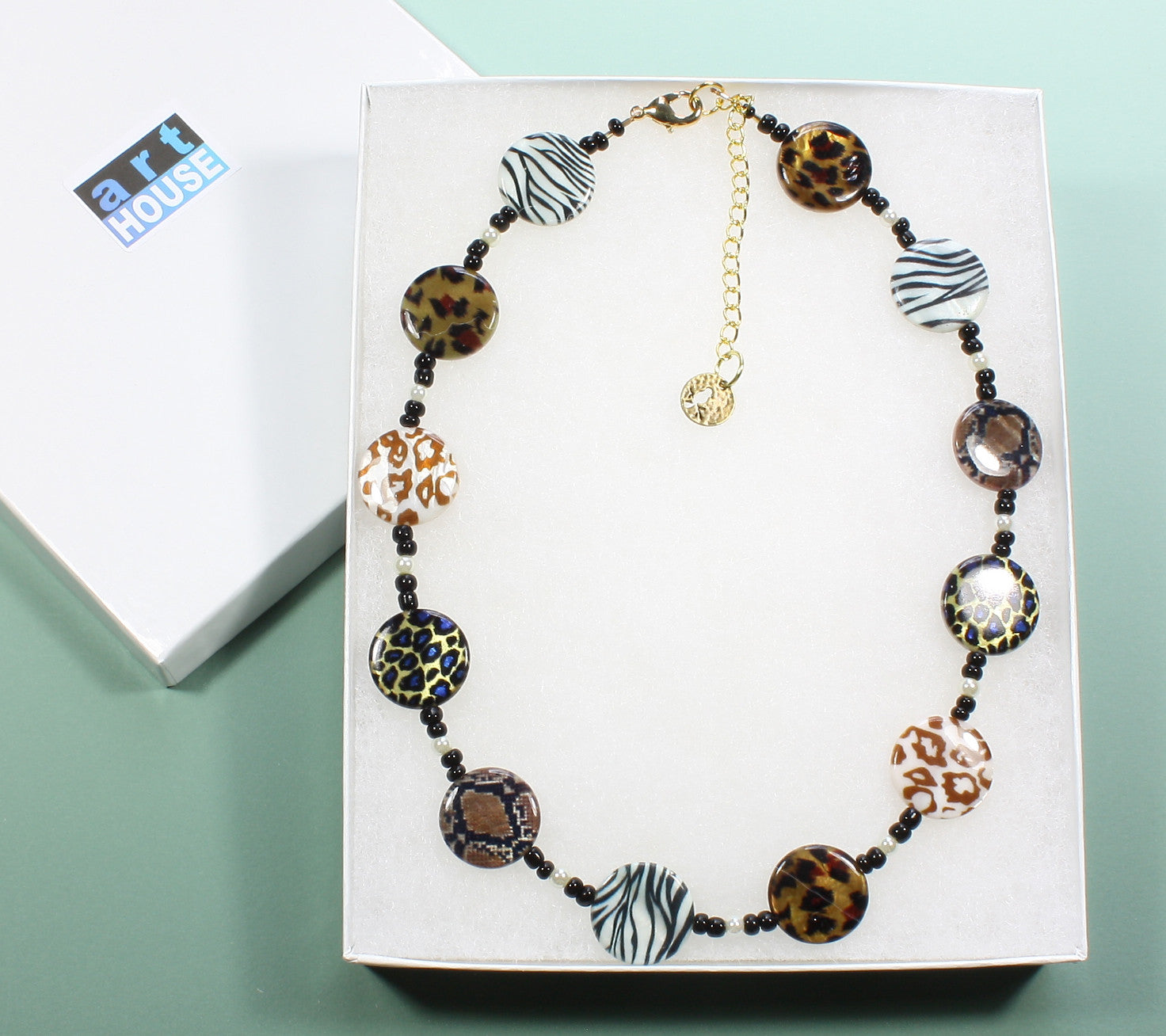 "Animal Print Necklace ""Take Me on a Safari"" Style-ARThouse"