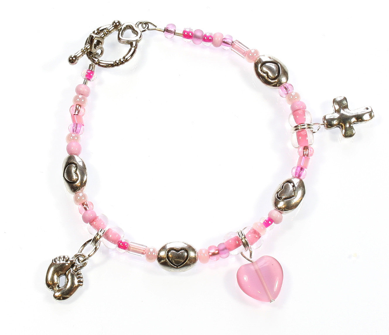 "Baby Pink Bracelet ""Thank God for Little Girls"" Style-ARThouse"