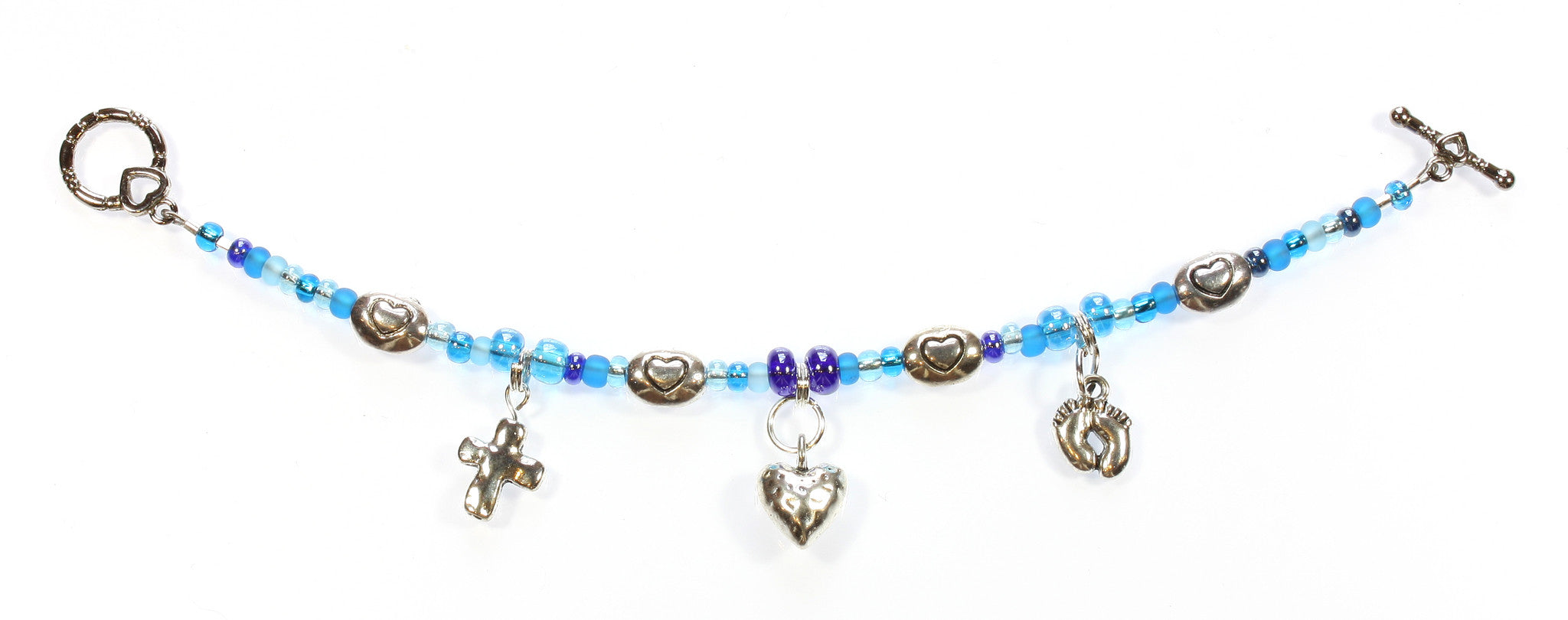 "Baby Blue Bracelet ""Thank God for Little Boys"" Style-ARThouse"