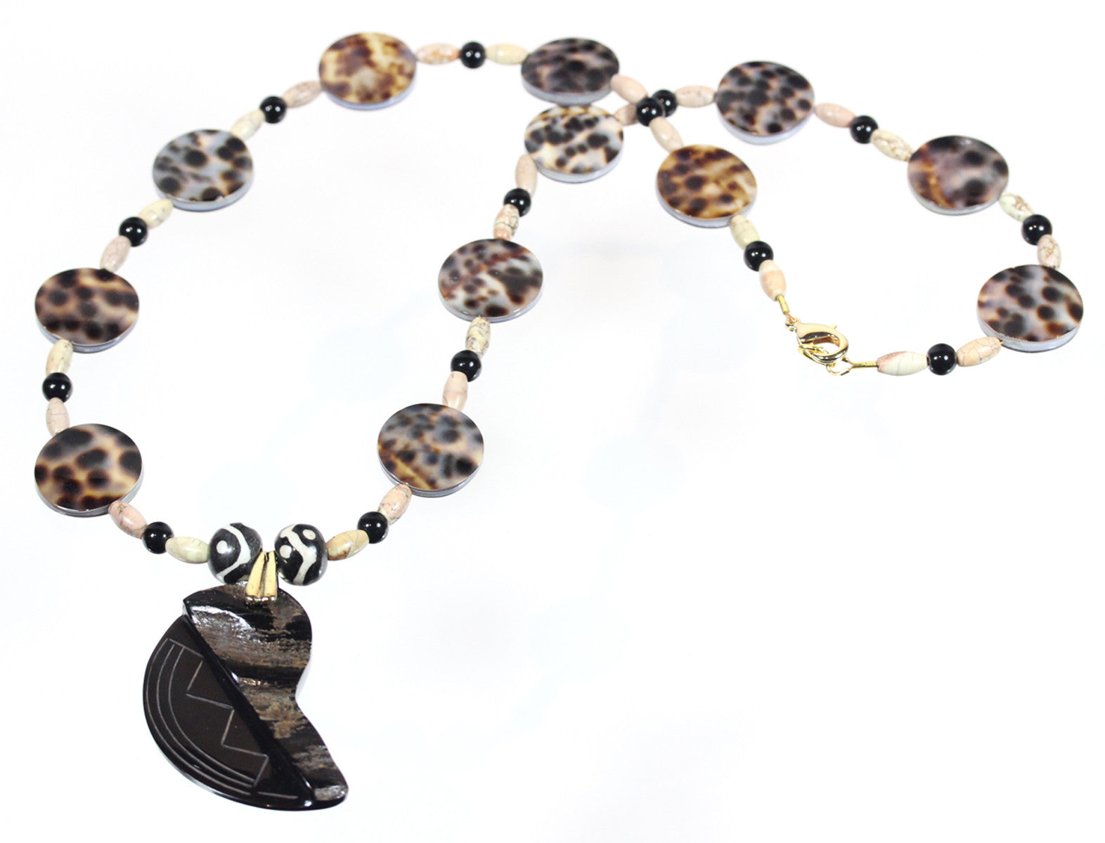 "Cowrie Shell Primitive Necklace ""Tribal"" Style-ARThouse"