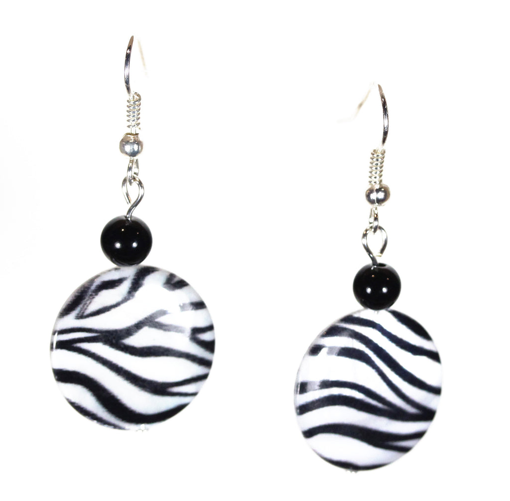 "Animal Print Earrings ""Wild Zebra"" Style-ARThouse"