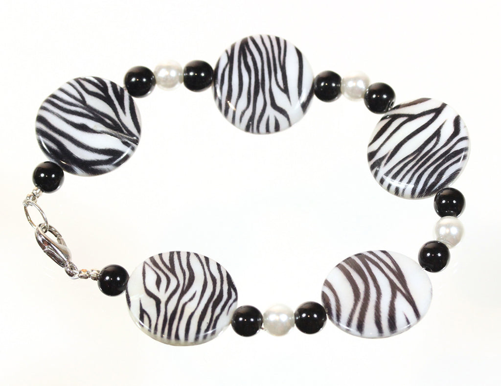 "Animal Print Bracelet ""Wild Zebra"" Style-ARThouse"
