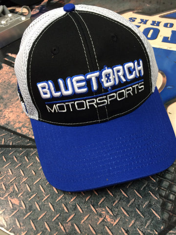 Blue Torch Motorsports Hat Blue/White