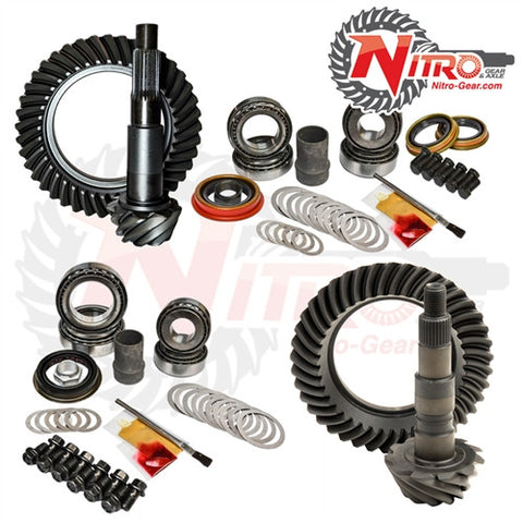 1988-1998 GM 1500 & Suburban, 4.56 Ratio, Nitro Front & Rear Gear Package Kit GPK15008898-4.56