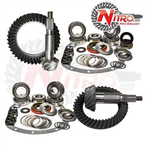 "1990-1999 Jeep Cherokee XJ with Dana 30 Reverse & Chrysler 8.25"" Rear, 4.88 Ratio, Nitro Front & Rear Gear Package Kit GPXJ825-4.88"