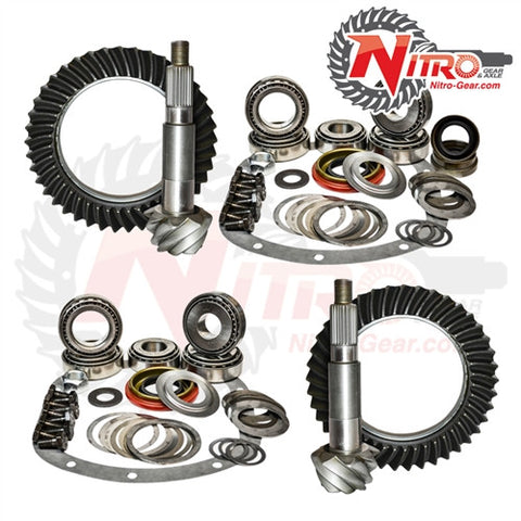 1984-1999 Jeep Cherokee XJ & 1990-1995 Wrangler YJ with Dana 30 Reverse Front & Model 35 Rear, 4.88 Ratio, Nitro Front & Rear Gear Package Kit GPXJYJ35-4.88