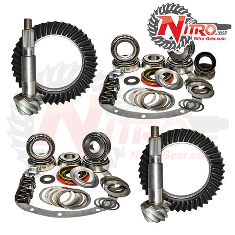 1997-2006 Jeep Wrangler TJ & LJ with Dana 44 Rear, 4.88 Ratio, Nitro Front & Rear Gear Package Kit GPTJ44-4.88