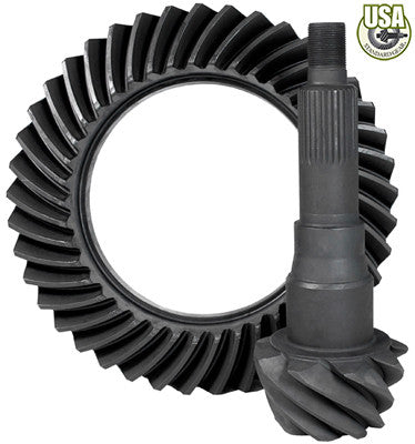 "USA Standard Ring & Pinion gear set for '10 & down Ford 9.75"" in a 4.56 ratio"