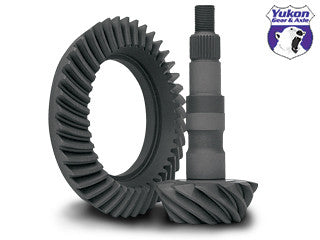 "High performance Yukon Ring & Pinion gear set for GM 8.25"" IFS Reverse rotation in a 3.73 ratio."