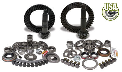 USA Standard Gear & Install Kit package for Jeep XJ & YJ with D30 front & Model 35 rear, 4.88 ratio.