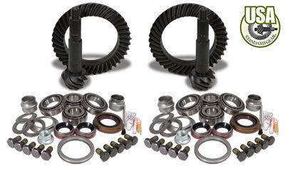 USA Standard Gear & Install Kit package for Jeep TJ Rubicon, 4.56 ratio