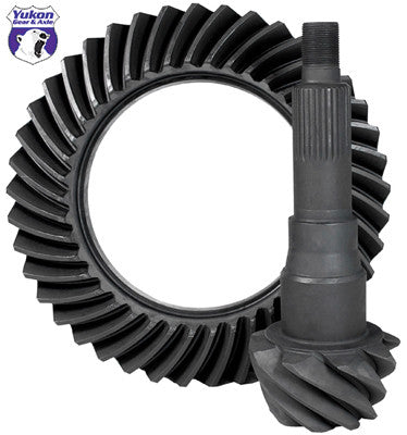 "High performance Yukon Ring & Pinion gear set for '10 & down Ford 9.75"" in a 4.88 ratio"