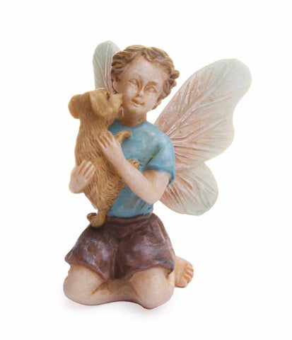 Fairy, Boy with Puppy
