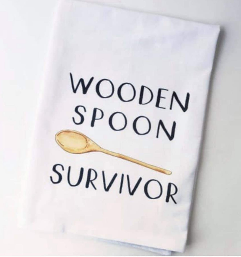 Wooden Spoon SurvivorFlour Sack Kitchen Tea Towel