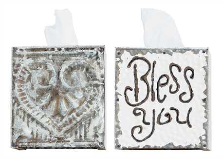 Bless You 2-sided Tissue Box Cover