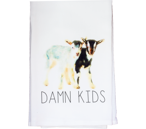 Damn Kids Flour Sack Kitchen Tea Towel