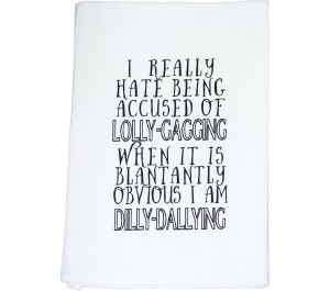 Dilly Dally Flour Sack Kitchen Tea Towel