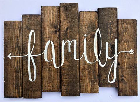 Family Wood Slat Sign