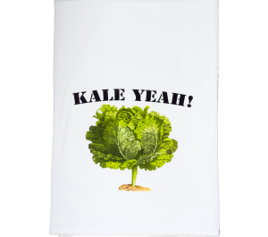 Kale Yea Flour Sack Kitchen Tea Towel