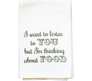Thinking of Food Flour Sack Kitchen Tea Towel
