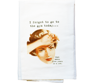 Gym Flour Sack Kitchen Tea Towel