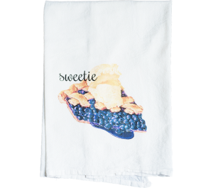 Pie Flour Sack Kitchen Tea Towel