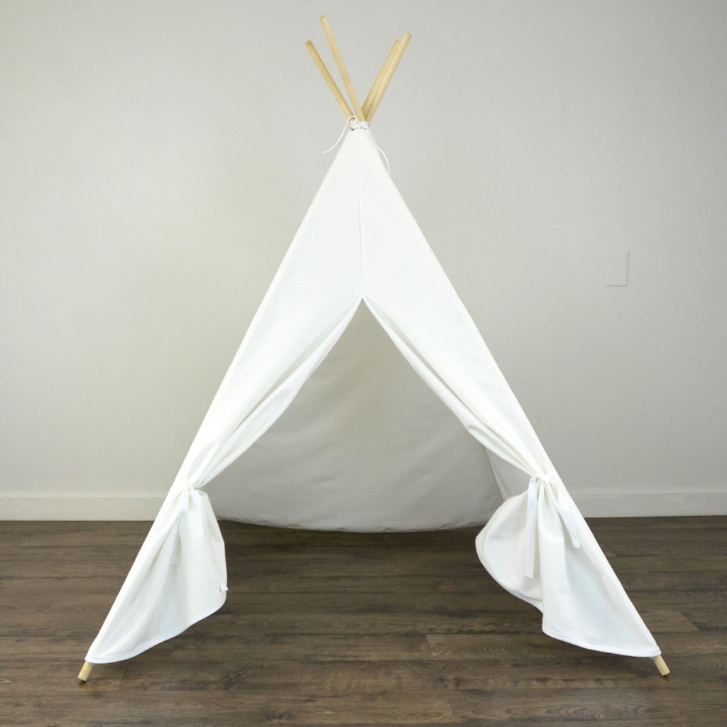 ... Kids Teepee Tent in Solid White Cotton Canvas & Kids Teepee Tent in Solid White Cotton Canvas u2013 zeldabelle