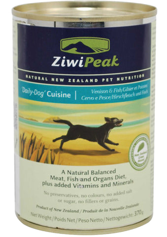 ZiwiPeak Daily-Dog Cuisine Venison & Fish Canned Dog Food | Wet Food