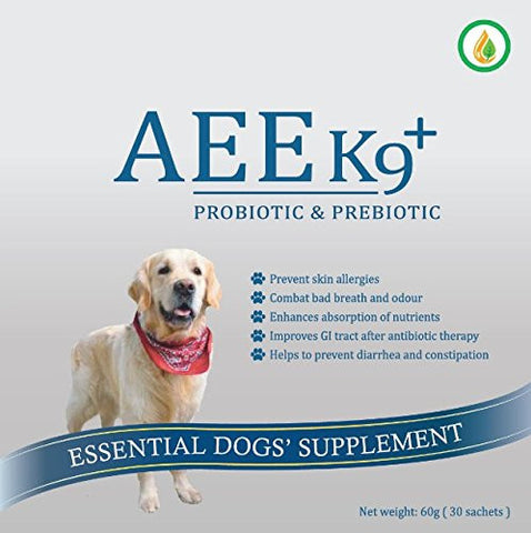 AEE K9+ Probiotic & Prebiotic Supplement | Canine Supplements - 1